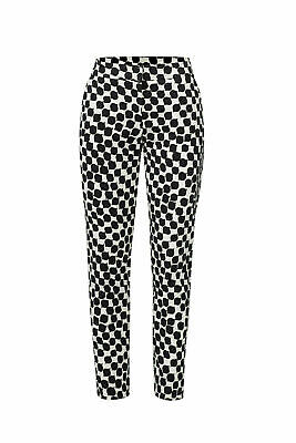 Trina Turk White Black Women's Size 2 Printed Stretch Cropped Pants $276 #538