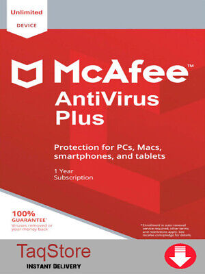 McAfee Antivirus PLUS 2020| 1 Year Unlimited Devices| PC | Android FAST SHIPPING