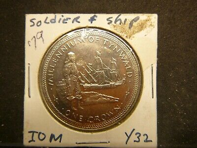Isle Of Man Soldier & Ship 1979 One Crown