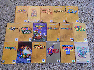 Nintendo 64 N64 Instruction Manuals! You Choose from Selection! Mario, Zelda