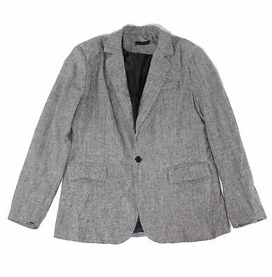 Designer Brand Mens Suit Seperates Gray Black Size Medium M Blazer $99- 714