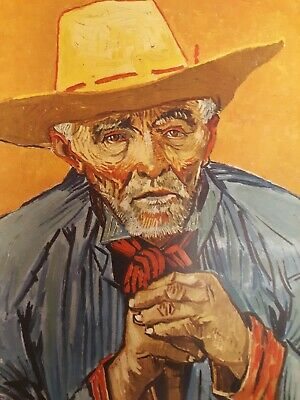 """Vintage 1952 full Color Art Plate """"Old Peasant"""" by Van Gogh Lithograph Abrams"""