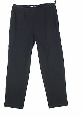 Eileen Fisher Women's Black Size Large L Cropped Pants Stretch $138- #343