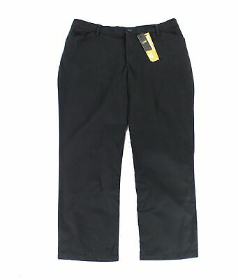 Lee Womens Pants Black Size 6 Short Straight-Leg Relaxed Stretch $48- 381