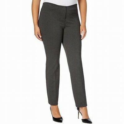 Alfani Women's Dress Pants Gray Size 24W Plus Skinny Leg Stretch $79 #575
