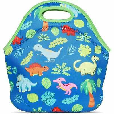 Juvale Dinosaur Neoprene Insulated Lunch Tote Bag, 11 x 11 Inches