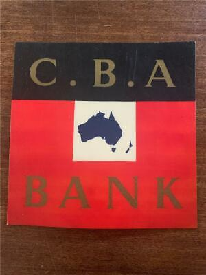 Vintage Commonwealth Bank Of Australia CBA advertising board sign map banking