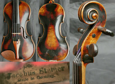 Fine 4/4 Antique BAROQUE German Violin: Jacobus STAINER 19th fiddle 小提琴 ヴァイオリン