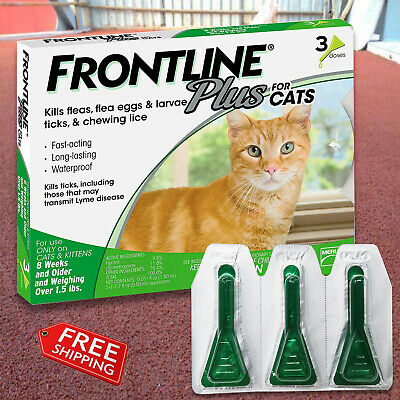 Frontline Plus for Cats Flea and Tick Control and Treatment 3-Doses,New Look
