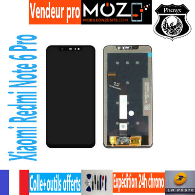 Ecran Lcd+Vitre Tactile Mobile Xiaomi Redmi Note 6 Pro (Noir)+Colle/Outils Offer