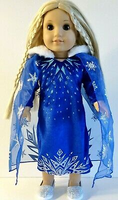 18 Inch Doll Clothes Frozen ELSA DRESS & CAPE fits American Girl Princess