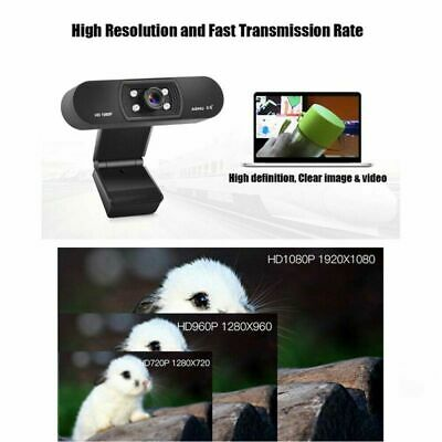 Digital USB Web Cam Camera HD 1080P Video Calling Teleconference Camera New