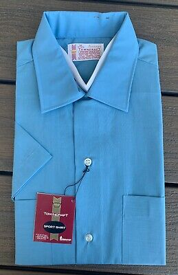 Vtg 60s PENNEYS Towncraft PENN PREST Collar LOOP Shirt sz M 15-15.5 NOS #1