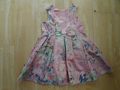 MOTHERCARE baby girls metallic pink floral summer party dress AGE 18 - 24 MONTHS