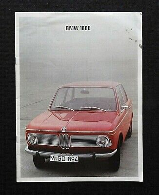 """1967 Bmw 1600 Compared To Lufthansa Airline Boeing 727"" Large Prestige Brochure"