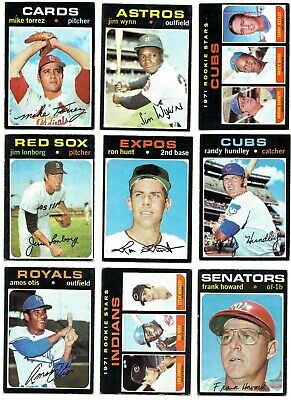 1971 TOPPS COMPLETE YOUR SET - 524-643 - PICKEM - 3 for $4.99 - ROOKIES ++