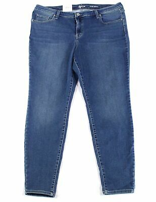 Style & Co. Women's Blue Size 20W Plus Stretch Ultra Skinny Jeans $59 #021