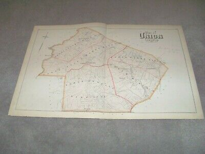 1882 Plan of Union Township New Jersey J E Robinson & R H Pidgeon A H Mueller