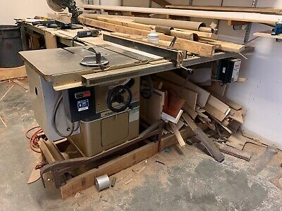 "Powermatic 66 10"" Table Saw Left Tilt 3hp 220v 52"" Rip Capacity Biesemeyer Fence"