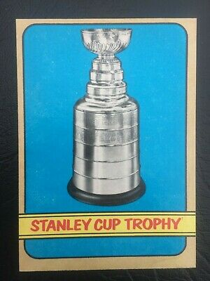 Old Vintage Nhl 1972-73 72-73 O-Pee-Chee Opc Hockey Card #253 Stanley Cup Trophy