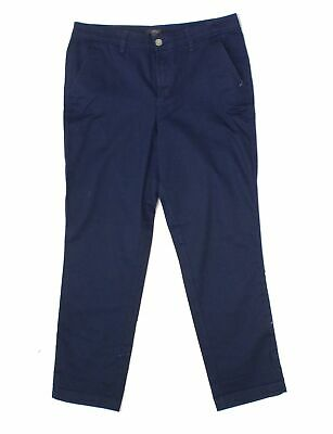 J. Crew Women's Blue Size 6 Mid-Rise Slim Fit Chino Pants Stretch $32 #602