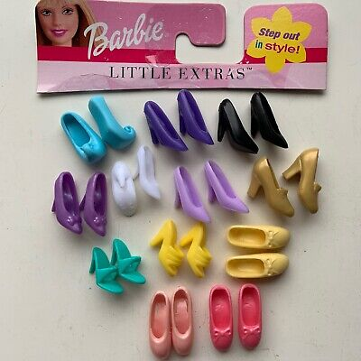 Barbie Pumps And Sandals Lot Gold Heels Ballerina Shoes Genie Slippers 12 Pairs
