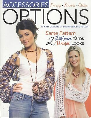 Leisure Arts Accessories Options 12 Knitting Patterns 4371 Shrug Scarf Stole NEW