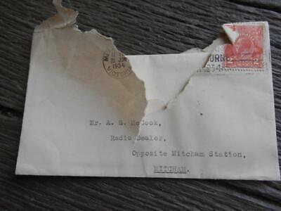 1934 Courtlands Van Ruyten radio Empire shop Mitcham Melbourne letterhead dodger