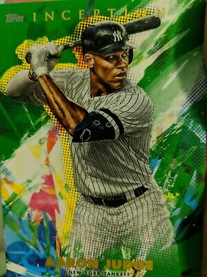 2020 Topps Inception Green Parallel Base Card Aaron Judge New York Yankees