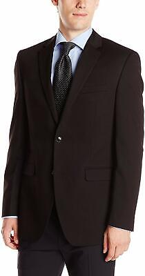 Perry Ellis Mens Blazer Black Size 46 Slim Fit Two-Button Notched $185 #427