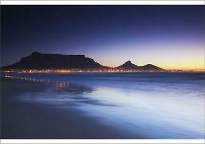 19425399 A1 (84x59cm) Poster View of Table Mountain at dusk from Milnerton...