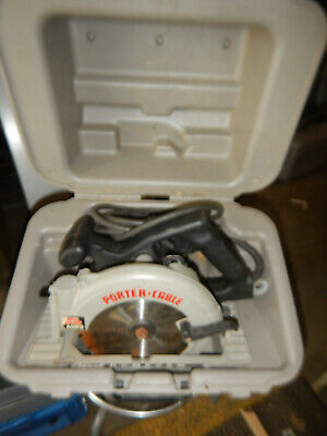 Porter Cable 743 Left Handed Circular Saw W/ Case And Blade Wrench Lotc