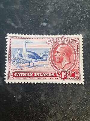 Cayman Islands GV 1935 1d ultramarine & scarlet sg 98 .Mint