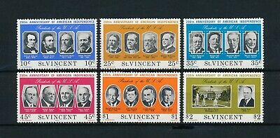 St.Vincent #439-44 MNH, American Independence, 1975