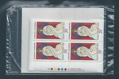 Canada #1114 Christmas - Angles Post Office Sealed Set Plate Block MNH