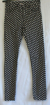 H&M Dark Grey & White Spotty Jeans . Long legs skinny fit. stretch Age 12-13yrs