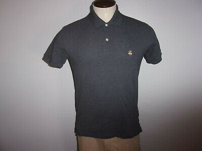 Men's Brooks Brothers Performance SLIM FIT sz Small Gray SS Polo Shirt