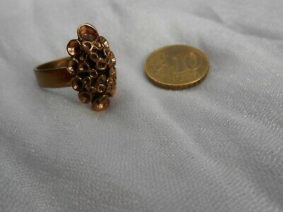 Renmoosblüten Bronze Ring Modernist Made in Finnland Vintage