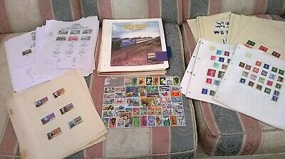World And Gb Collection. Album Pages With World And Gb Stamps.