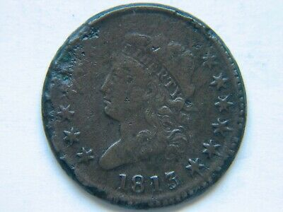 1813 Classic Head Large Cent VF Detail