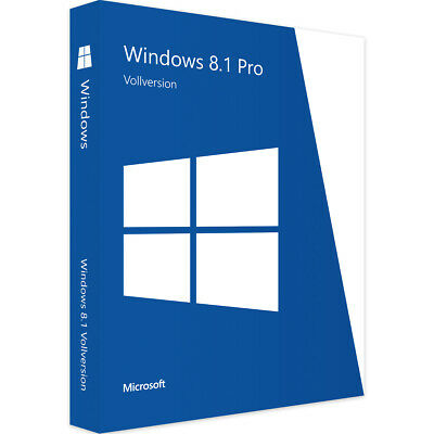 Windows 8.1 Pro Professional | Win Vollversion 32/64Bit | Endnutzer Version