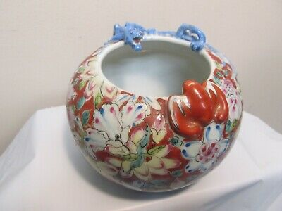Republic Period / Vintage Chinese Famille Rose Porcelain Vase with Dragon n Bat
