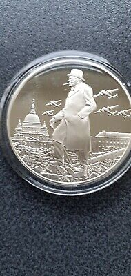 Winston  Churchill  The Blitz Sterling Silver Proof Hallmarked Medal