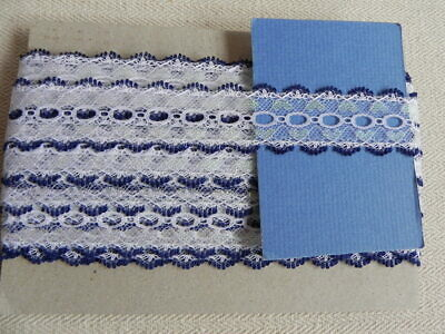 Card of New Knitting Lace - Navy & White Sparkle