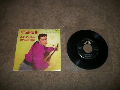 Vintage Elvis Presley All Shook Up 47-6870 45 Rpm Record W/ Picture Sleeve