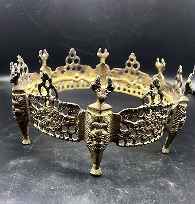 Circa 600-700Ad Ancient Byzantine Bronze Crusaders Royal Crown Wearable