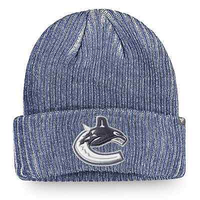 Vancouver Canucks Fanatics Branded Authentic Pro Rinkside Cuffed Knit Hat - Blue