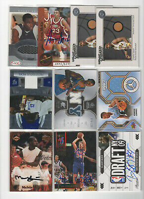 10 count lot mix basketball autographs/relic cards! Stars/RC's all autos/relics