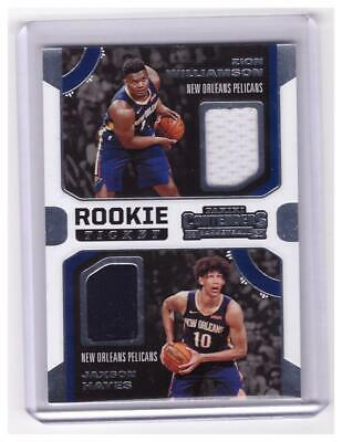 2019-20 Contenders Zion Williamson Hayes Rookie Dual PATCH Jersey Card !!!