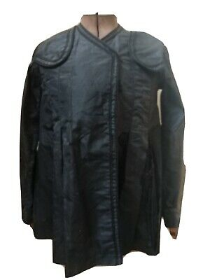 ANTIQUE Late 1800s VICTORIAN BLACK SILK PLEATED DETAILED MOURNING JACKET